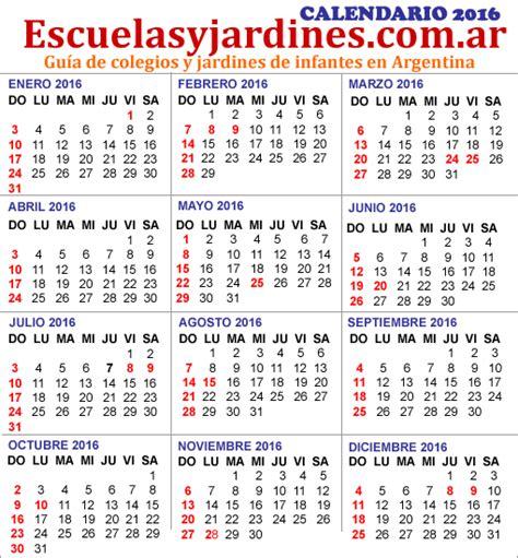 feriados 2016 argentina almanaque para imprimir