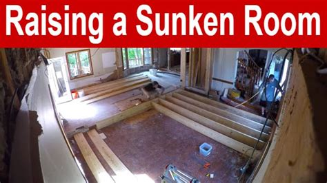fill in sunken living room raising a sunken room time lapse