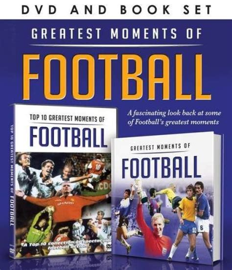 moment of books greatest moments of football includes book dvd zavvi