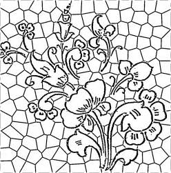 flower coloring pattern patterns stained glass pattern bunch of flower in a