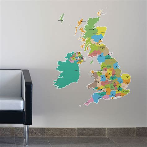 wall stickers map large map of the uk wall stickers by the binary box
