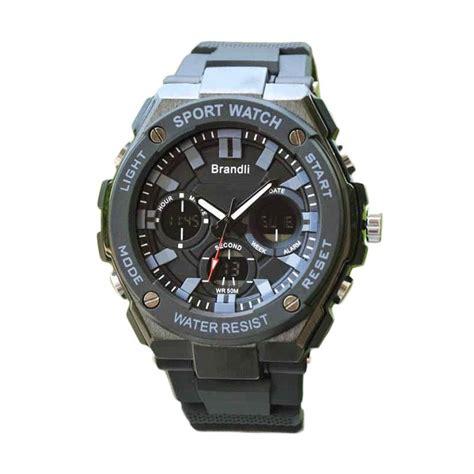 Jam Tangan Sport Digital Hitam Origianl jual brandli original time rubber ad 322 jam