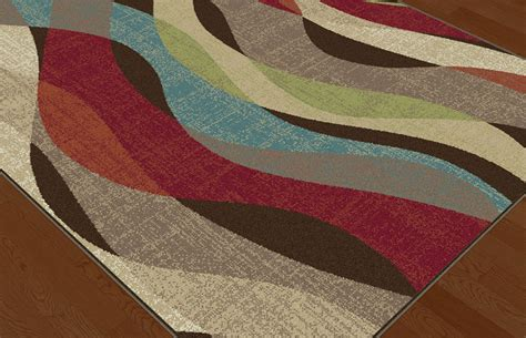 modern abstract rugs brown contemporary stripes area rug multi color abstract modern waves carpet ebay