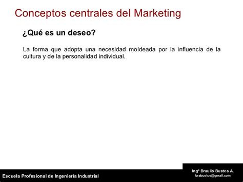Que Es Un Mba En Marketing by Marketing Introduccion Y Conceptos Claves