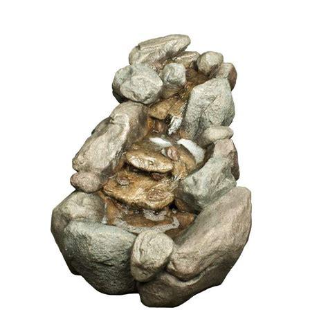 Garden Rocks Lowes Shop Garden Treasures 21 65 In Fiberglass Rock Waterfall At Lowes