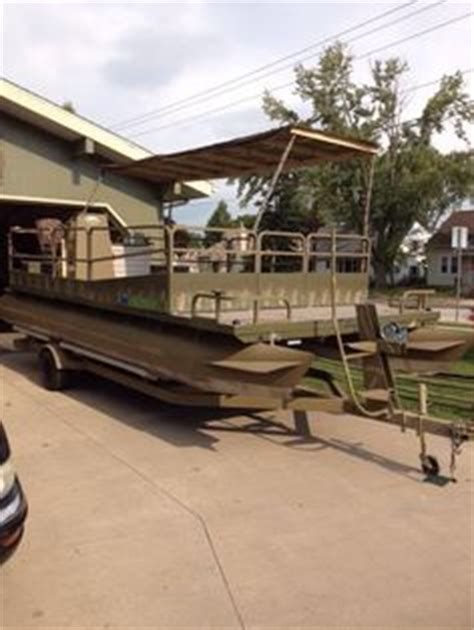 duck hunting pontoon boat for sale duck boats this is a custom duck boat that has railing