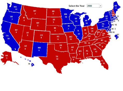 map of the united states electoral votes electoral 2000 s jpg