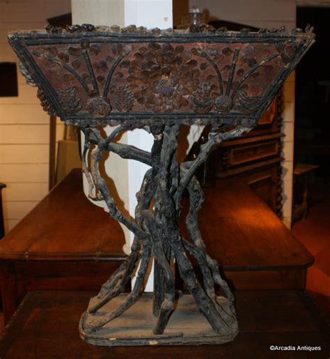Twig Planters by Twig Bark Planter Antique Miscellaneous