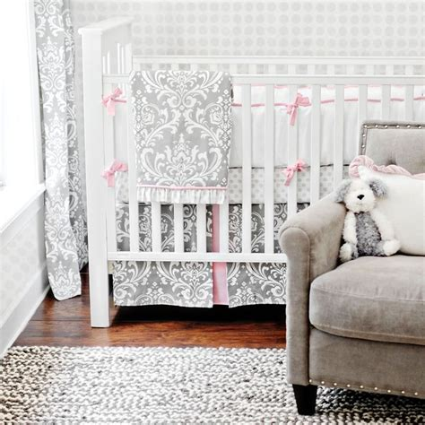 Gray Damask Bedding by Stella Gray Damask Baby Bedding Baby