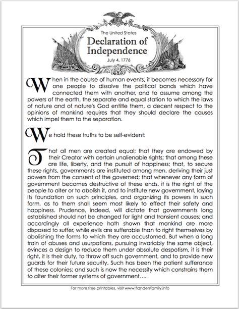 printable version bill of rights free patriotic printables including bill of rights