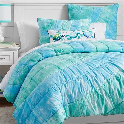 blue tie dye bedding dunes tie dye quilt sham cool from pbteen bedding love