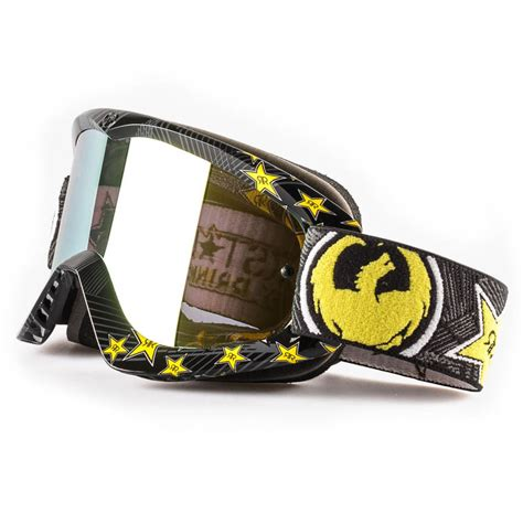 rockstar motocross goggles dragon mx new mdx rockstar energy ionized black gold