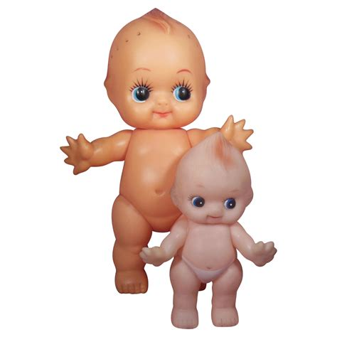 kewpie doll vinyl kewpie dolls with molded hair made in japan sold