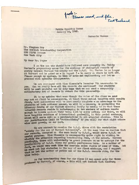 Harvard Professors Letter Due Process not to be played liner notes for an exhibition stylus