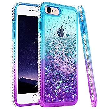 amazoncom iphone  case iphone  glitter case  girls women ruky colorful quicksand