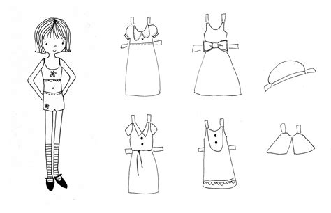 Dress A Doll Template by Paper Doll Dress Template Www Imgkid The Image Kid