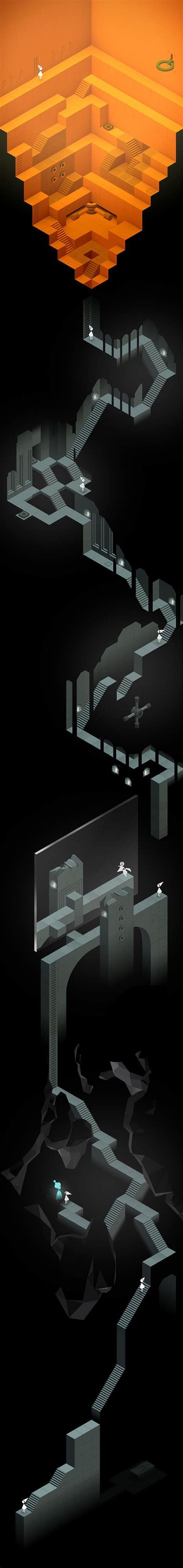game wallpaper vertical monument valley game the descent chapter ix full