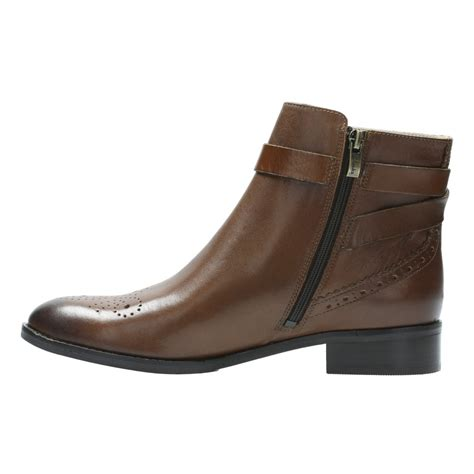 womans ankle boots clarks netley s leather ankle boots shoes