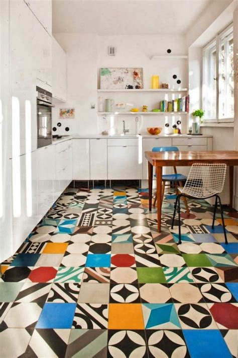 kitchen and floor decor patchwork tiles mix and match your favorite colors for a