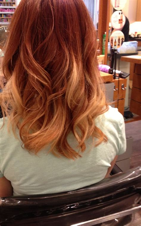 red to blonde ombre bob ombr 233 with copper red and blonde hair pinterest my