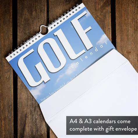 Calendar Personalised Personalised Golf Calendar Gettingpersonal Co Uk