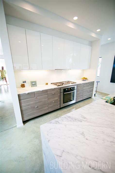 Walnut High Gloss Kitchen by Modern Atlanta Home Tour 2014 184 Pearl