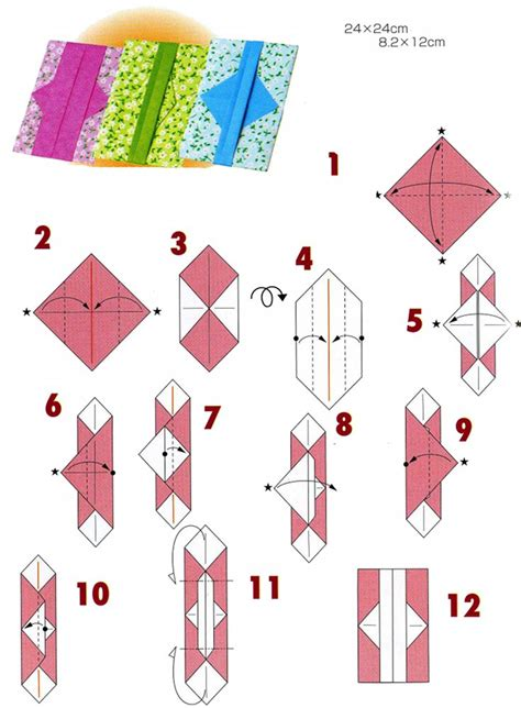 Different Origami Designs - origami envelopes 4 types