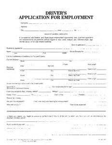 employment application template for truck driver