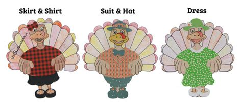 printable turkey clothes dressed turkey thanksgiving kids craft onecreativemommy com