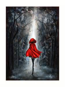 Big Tree Wall Stickers quot little red riding hood quot art prints by annya kai redbubble