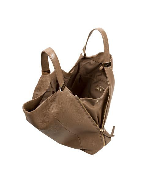 Furlah Bag 1 furla liz daino leather hobo bag in brown lyst