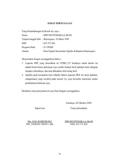 contoh surat pernyataan siswa bermasalah 28 images surat pernyataan