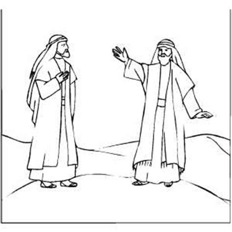 coloring page abraham and lot abraham and lot coloring page