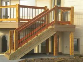 install deck stair railing patio design installing