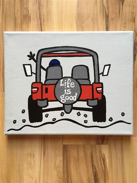 jeep painting canvas life is good jeep canvas painting