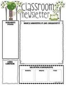 Classroom Weekly Newsletter Template by 25 Best Ideas About Newsletter Template Free On