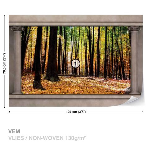 woodland wall mural wall mural photo wallpaper woodland forest window view 2865ws ebay