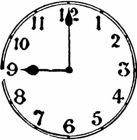 printable o clock 9 o clock clipart etc