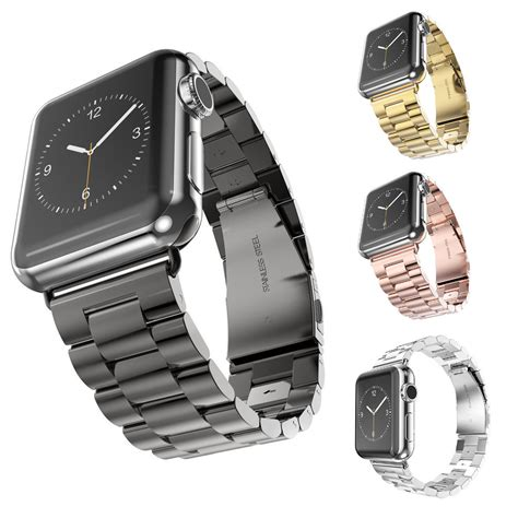 New Apple Stainless 3 Link I Wacth Series 1 2 3 2 stainless steel band for iwatch apple band series 1 2 3 link bracelet 38mm