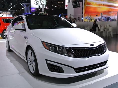 How Much Is Kia Optima 2014 2014 Kia Optima Lx White Top Auto Magazine