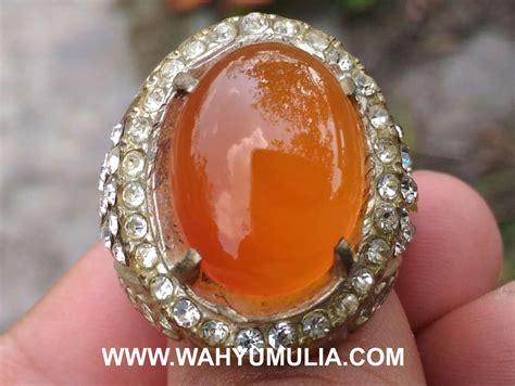 Cincin Orange Chalcedony batu cincin orange carnelian pacitan kode 430 wahyu mulia