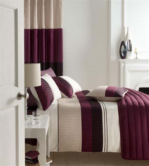 plum bed linen plum purple beige stripe cushion covers matches