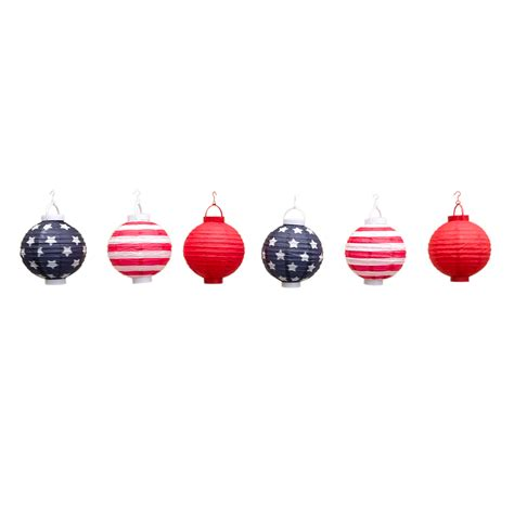 led chinese lantern lights patriotic 4th of july stars and stripes led battery