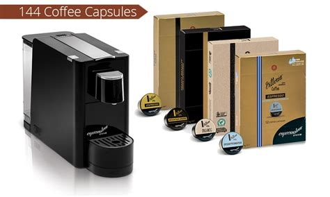 Vittoria Coffee Machine and 144 Capsules   Groupon