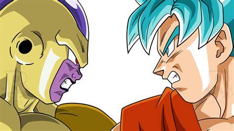Goku Vs Frieza saiyan blue goku vs golden frieza by aubreiprince on deviantart