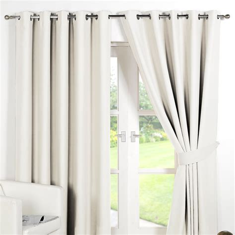 thermal drapes ring top fully lined pair eyelet ready made curtains