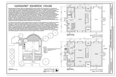 sections margaret esherick house 204 sunrise lane title sheet and floor plans margaret esherick house 204