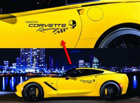 corvette racing decals corvette racing 1 pair logo vinyl graphic decals c3 c4 c5