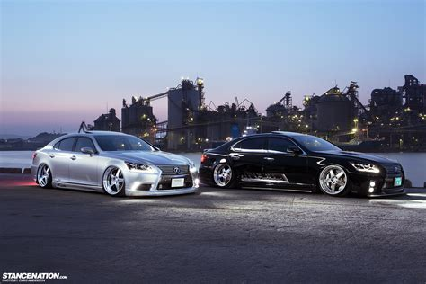 lexus ls stance two of a kind a pair of vip ls460s stancenation