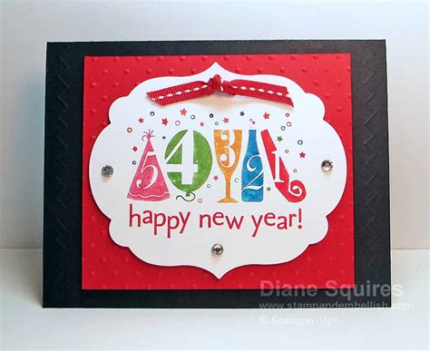New Year Card Handmade - happy new year happy new year handmade card